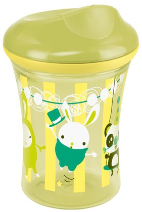 NUK Easy Learning Vario Cup, 250ml -  Perfects the drinking from cups A leak-proof drink lid plus cup rim to change For children from age 12 or 18 months