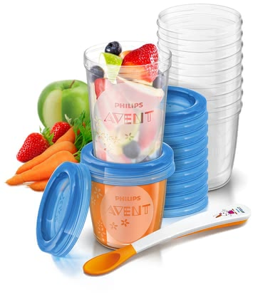 AVENT 嬰兒食品儲存盒套件 -  For storage, transporting and feeding of baby food the AVENT VIA storage system for baby food is suitable.
