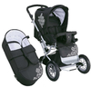 Knorr Nizza Air pushchair 2012 930-black white - большое изображение 3