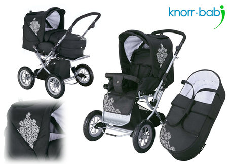 Knorr Nizza Air pushchair 2012 930-black white - большое изображение