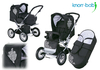 Knorr Nizza Air pushchair 2012 930-black white - большое изображение 1