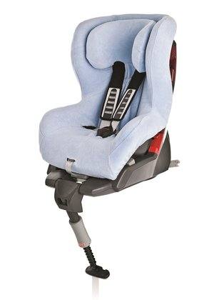 Britax Römer Summer cover King Plus & Safefix Plus & TT, light blue - The Römer summer seat-cover will quick and easy be pulled over the usual seat-cover and is matching for the child car seats Römer Safefix Plus/ TT and Römer King Plus