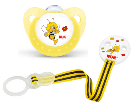 NUK Biene Maja silicone soother size 2 with soother chain DUO, BPA-free 2012 - 大图像