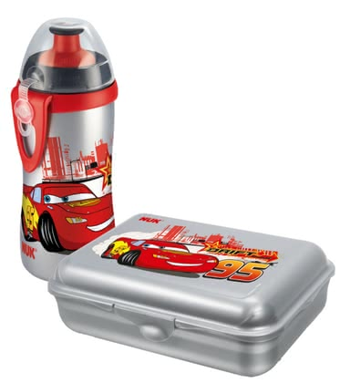 NUK  Lunch Box & Cup Set Disney  Cars, BPA-free - большое изображение