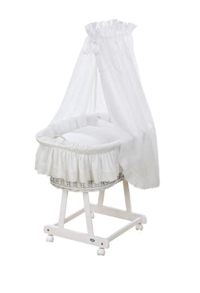 Alvi Bassinet Jola - complete - Teddy - The bassinet Jola by Alvi fits to each baby room and furnishing style.