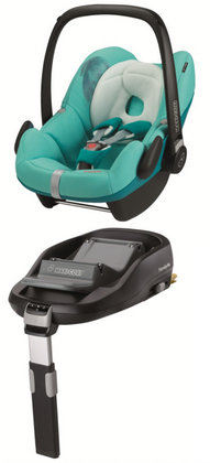 Maxi Cosi Pebble 2012 inkl. FamilyFix Base Fading greens - большое изображение