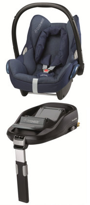 Maxi-Cosi Cabriofix inkl. FamilyFix Base Dress blue 2012 - Großbild