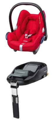 Maxi-Cosi Cabriofix incl. Family Fix base Origami Red 2016 - large image