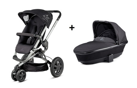 Quinny BUZZ 3 Kinderwagen + Dreami Rocking Black 2014 - Großbild