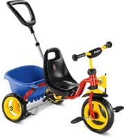 PUKY Tricycle CAT 1S - The PUKY trike CAT 1S has soft comfort tyres and the tipper provides a lot of room for the toys