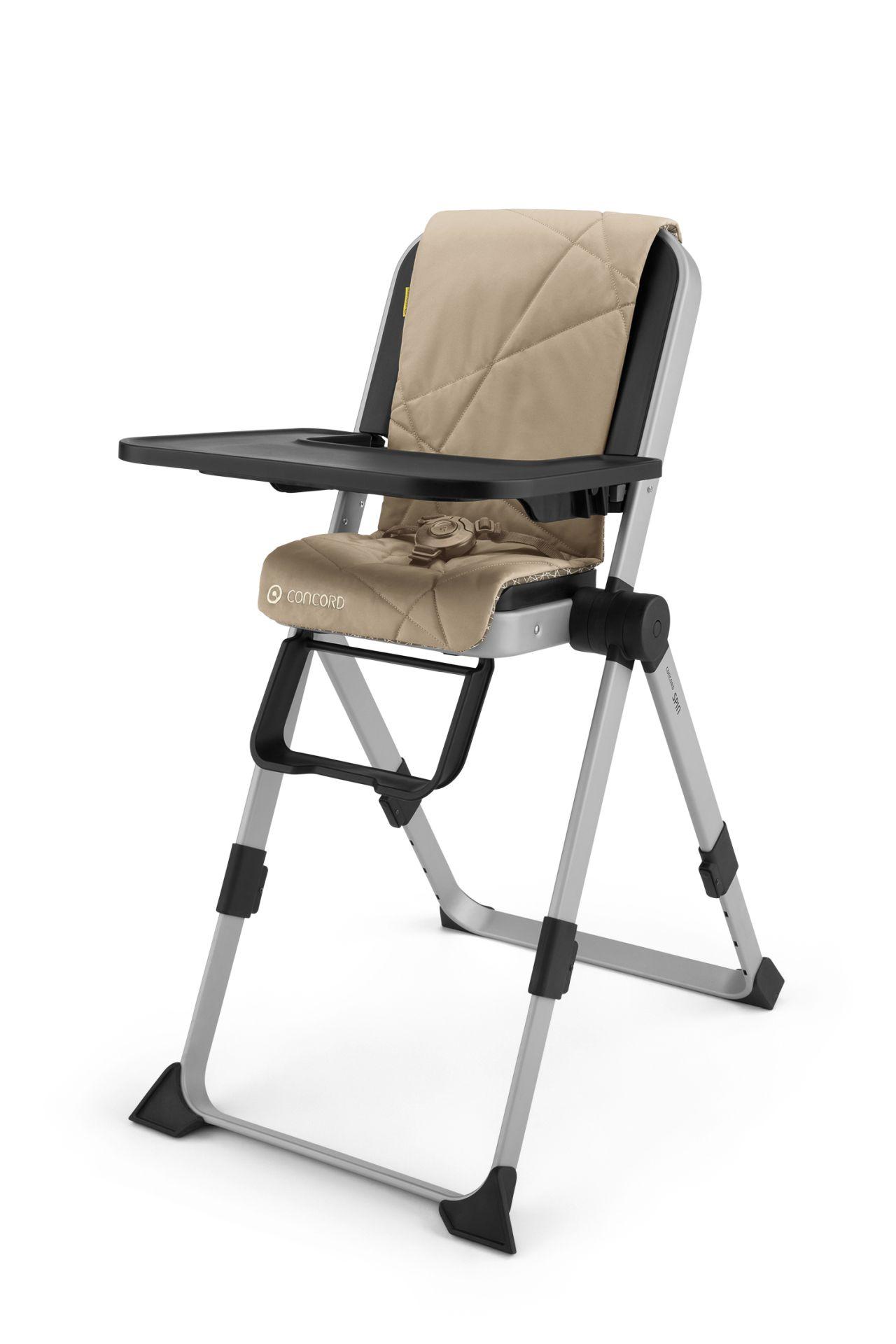 chaise haute spin par concord powder beige acheter sur kidsroom b b s la maison. Black Bedroom Furniture Sets. Home Design Ideas