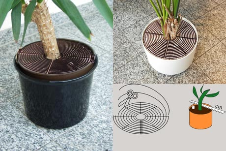 Reer Plant pot guard - The Reer Flower pot grids avoid your children grubbing in the flower pots