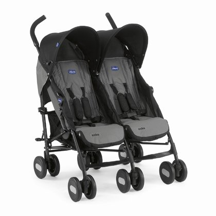 Chicco Twin buggy Echo Twin -  The Chicco twin stroller Echo Twin is agile, easy to use and offers plenty of seating and reclining comfort for your little darlings.