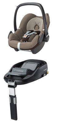 Детское автокресло Maxi Cosi Pebble + База Maxi Cosi FamilyFix Earth Brown 2018 - большое изображение
