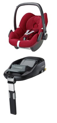 Maxi-Cosi Pebble incl. FamilyFix base - The baby car seat convinces through its simple use and highest driving security based on latest technologies.