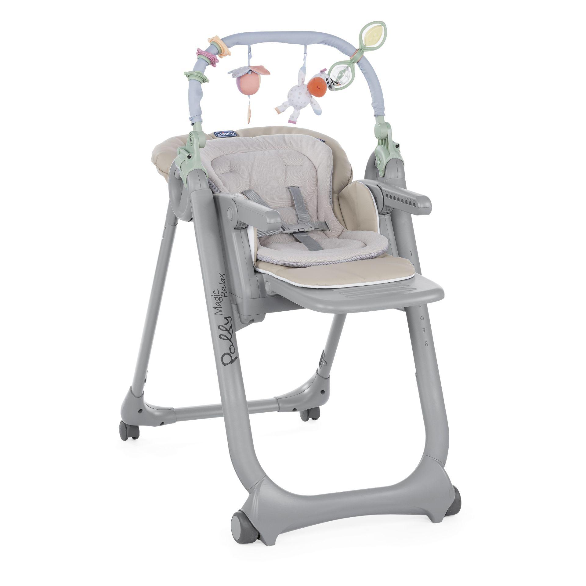 chaise haute chicco polly magic relax 2018 beige acheter sur kidsroom b b s la maison. Black Bedroom Furniture Sets. Home Design Ideas