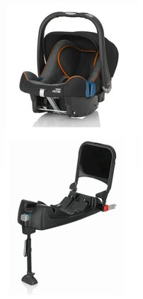Britax Römer Baby-Safe Plus SHR II Highline inkl. Isofix Base -  Die Babyschale Römer Baby Safe Plus SHR II in der Kombination mit der Römer Baby-Safe ISOFIX Base geben Ihrem kleinen Schatz maximale Sicherheit