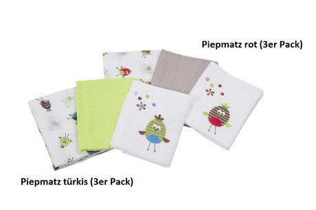 Odenwälder Double muslin diapers Piepmatz Rot 2015 - large image