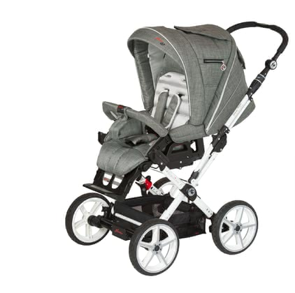 Hartan Stroller Topline X - The Hartan Topline X is equipped with four big wheels and a reversible handle barIn our Baby-Onlineshop available in all colors of the 2012 collection