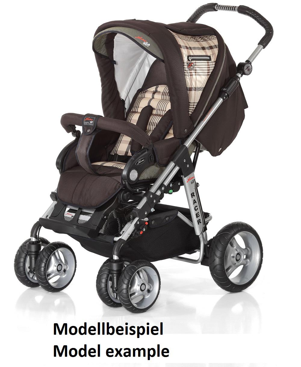 Zwillingskinderwagen hartan  Hartan Racer S mit Handbremse 2012 2013 279 online kaufen bei kidsroom