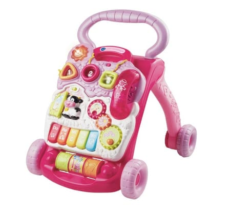 VTech Push-along Activity Center -  The VTech baby walker with game function will accompany your sweetheart at its first attempts of standing and walking.