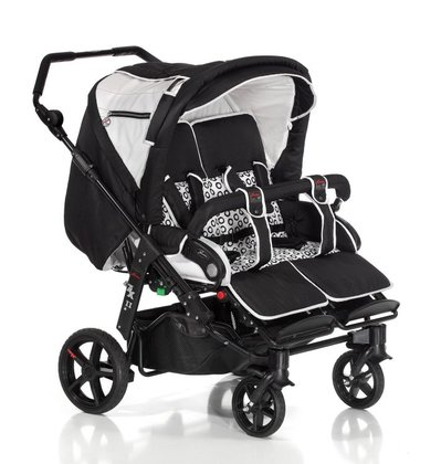 Hartan Twin & tandem stroller ZXII - The Hartan twin and sibling stroller ZX II 2013 offers a comfortable interior and fits due to its width of only 79,5 cm comfortable through all doorways