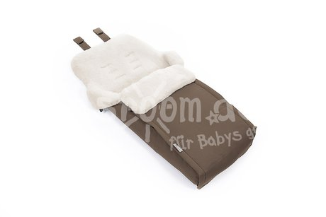 Teutonia Real sheepskin foot muff - The Teutonia lamb skin footmuff from Teutonia consists of lamb skin and provides your sweetheart an optimal thermal insulation