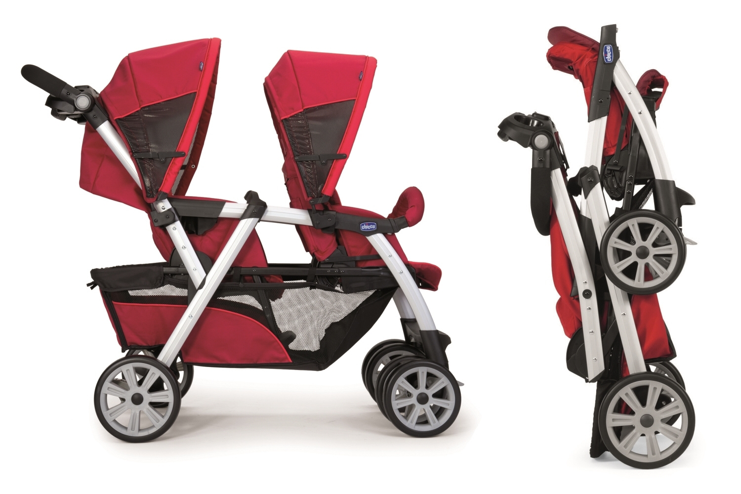 chicco together tandem stroller buy online at kidsroom de. Black Bedroom Furniture Sets. Home Design Ideas