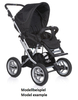 Teutonia Pushchair Mistral P Made for You 4800_Gala Black 2013 - large image 2