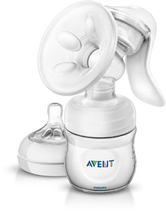AVENT 舒適手動擠乳器,帶安撫奶瓶,125毫升 - The Avent comfort manual breast pump allows you an easier expressing of your milk in a comfortable sitting position