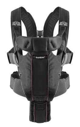 Baby Björn Baby carrier Miracle Schwarz, Mesh 2016 - large image
