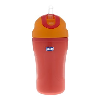 Chicco Insulated drinking bottle with straw - The Chicco insulated drinking bottle with drinking straw is non-spill and ideal suitable on the go