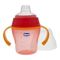 Chicco Training bottle with spout - The Chicco learn-to-drink bottle is equipped with a soft beak and fits ideal for the first own drinking attempts