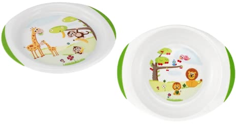 Chicco Plate set - The Chicco plate set consists of one dinner plate and one soup plate, which are BPA-free and furnished with cute motifs