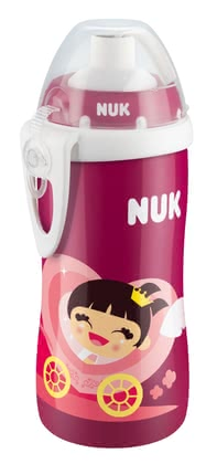 NUK Flexi Cup -  Soft straw with special valve No spills by residual liquid