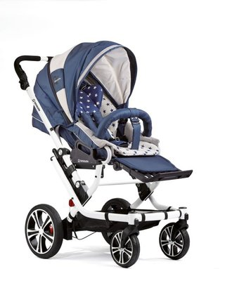 Gesslein F6 Air+ stroller - The Gesslein F6 Air+ is equipped with two lockable swivel front wheels and two big air chamber rear wheels, which provides optimum driving comfort - so y...