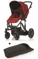 Britax B-SMART 4-wheeler + Britax foot muff for B-SMART - The Britax B-SMART 4 is a versatile and comfortable pushchair and in all 2 designs available at kidsroom.de