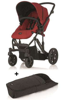Britax B-SMART 4-wheeler + Britax foot muff for B-SMART Chili Pepper 2015 - large image