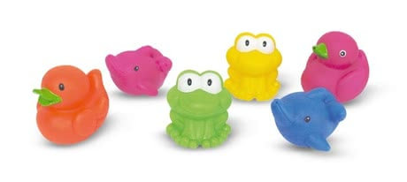 Bath-time fun animals -  The bathing fun animals provide plenty of entertainment in the bathtub or in the paddling pool and promote awareness of your treasure
