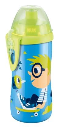 NUK Junior Cup - The unbreakable NUK Junior Cup is equipped with a push-pull-spout - so that your sweetheart the bottle can by itself open and close