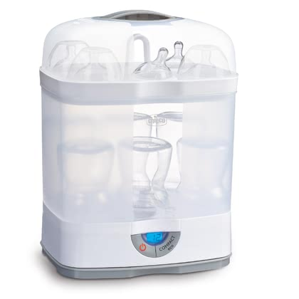 Chicco Digital steam sterilizer SteriNatural 3in1 - The Chicco digital steam sterilizer SterilNatural 3in1 sterilizes feeding bottles and teats within approx. 10 minutes