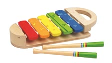 Hape Rainbow xylophone -  The Hape rainbow xylophone is made ​​of wood and learns your sweetheart the first notes