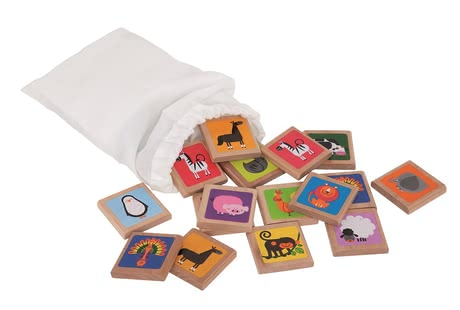 Hape Animal memory game -  The Hape animal memory is made of wood, trains the mind and promotes the concentration