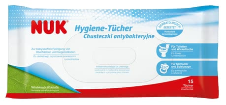 NUK Hygiene wipes - The NUK hygiene-wipes are the ideal companion for on the go.