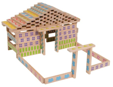 BoiKido Building block set, 100 pcs. - The BoiKido construction-set consists of 100 wooden blocks, offers a wealth building opportunities and promotes motor skills