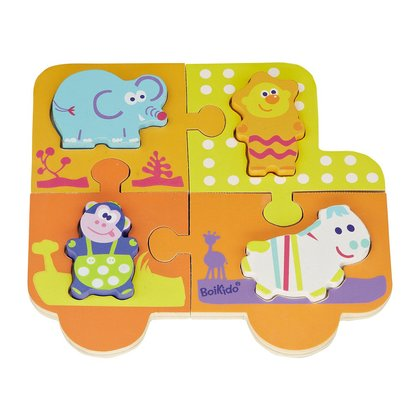 BoiKido Double puzzle - The BoiKido Double puzzle promotes the fine motor skills and is suitable for your little treasure from the age of 12 months of life