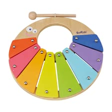 BoiKido Hand-held xylophone Rainbow - The BoiKido hand xylophone Rainbow supports the musical capabilities of your favorite and is suitable from the 18th month of life