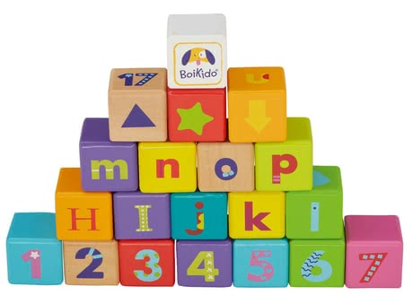 BoiKido Alphabet cubes - The BoiKido cubes alphabet consists of 28 parts and teaches your favorite playful the letters, numbers and colors