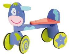 "BoiKido Ride-on cow ""Violette"" - The BoiKido slip cart promotes the sense of balance, is equipped with rubber tires and suitable for your favorite from the 12nd month of life"