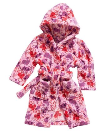 Playshoes fleece bathrobe for girls Retro Mix 2014 - large image